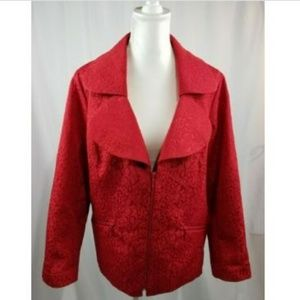 Laura Ashley Red Collared Blazer Jacket Size 2X